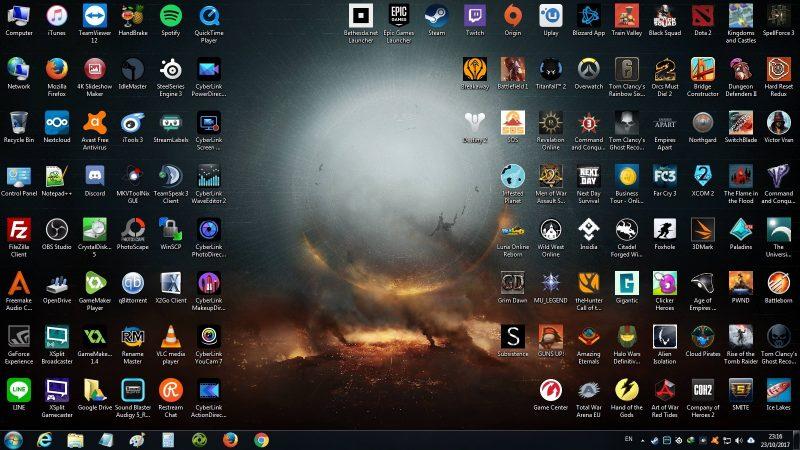 atasi latop lemot dengan bersihkan layar desktop