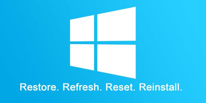 menginstal ulang windows untuk mengatasi lemot pada laptop