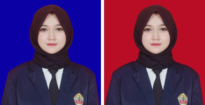 Cara Mudah Edit Background Merah Biru Foto Pakai Hp Penjelasan