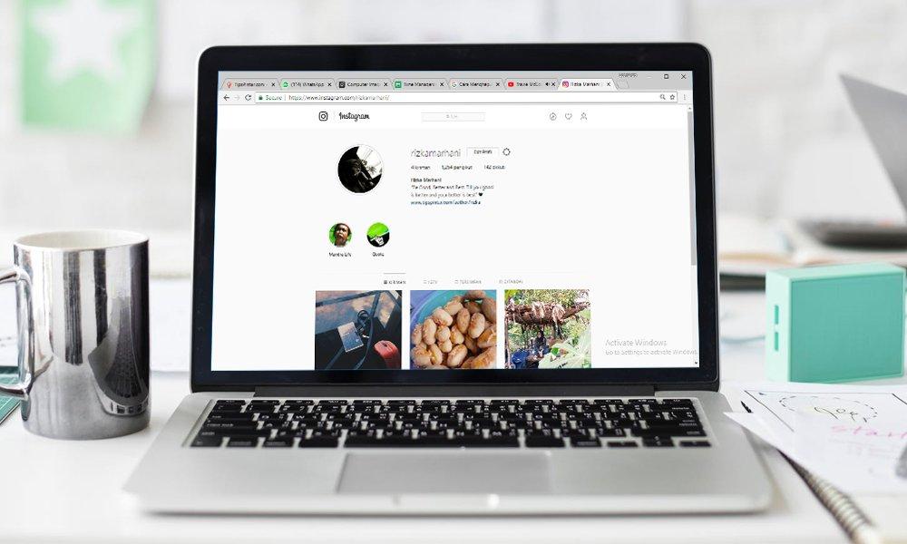 Cara Menghapus Akun Instagram Melalui PC atau Laptop