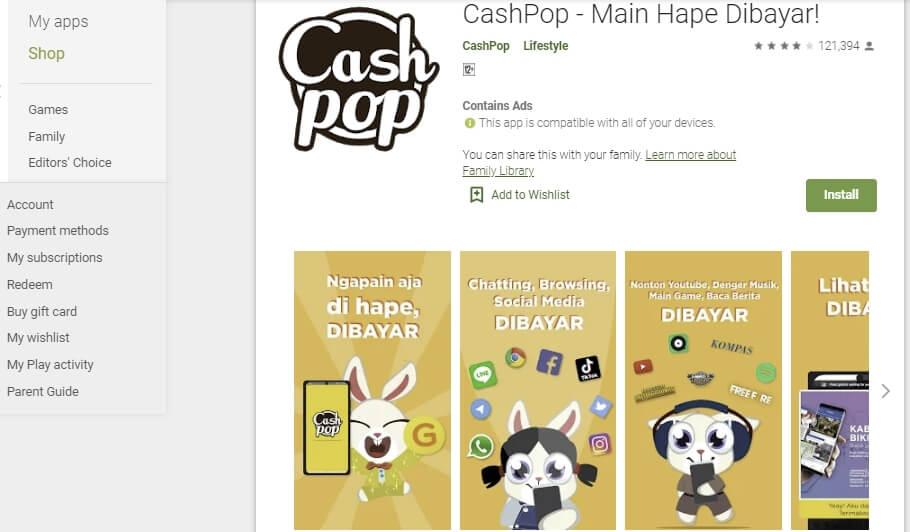mendapatkan uang dengan menggunakan aplikasi