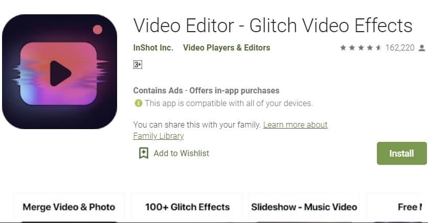 aplikasi edit video glitch