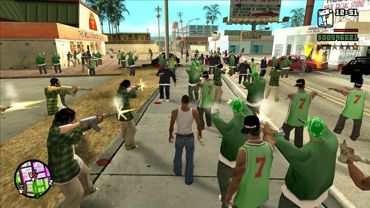 perang di GTA San Andreas