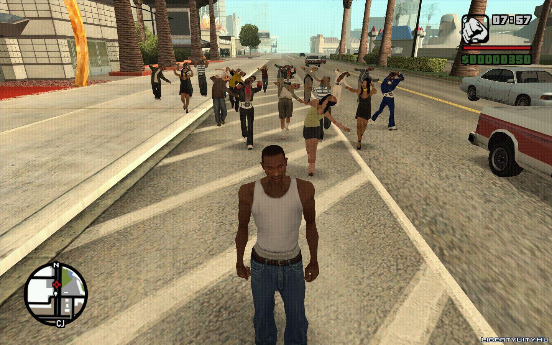 GTA San Andreas cheat pejalan kaki