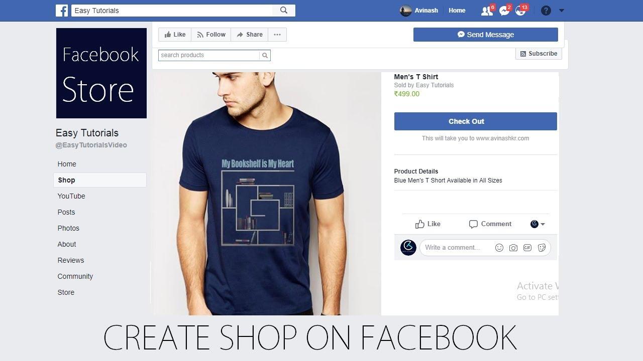 cara membuat onlineshop di Facebook