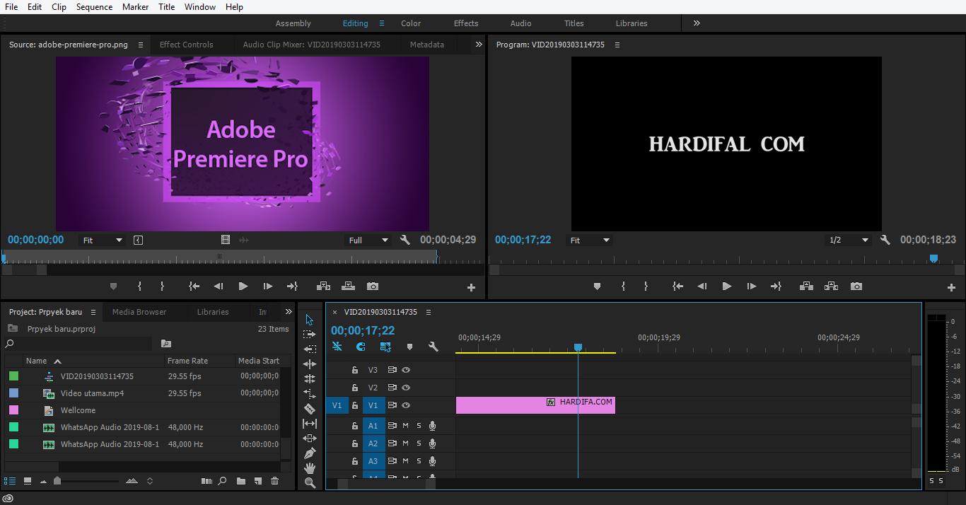 aplikasi editing video di komputer