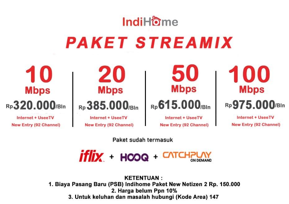 Paket Internet IndiHome Streamix