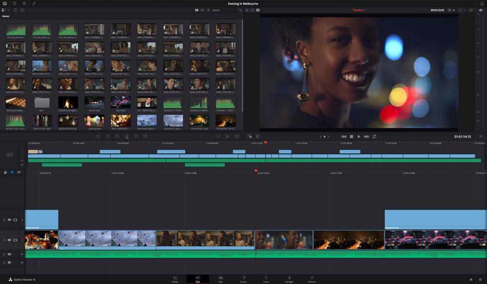 edit video di Komputer dengan Davinci Resolver