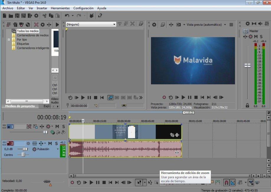 aplikasi editing video terbaik di PC Sony Vegas pro 17