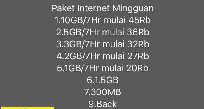 paket internet mingguan telkomsel rahasia