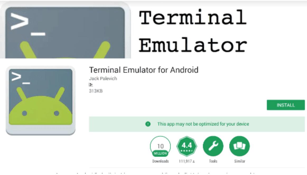 emulator untuk ping google