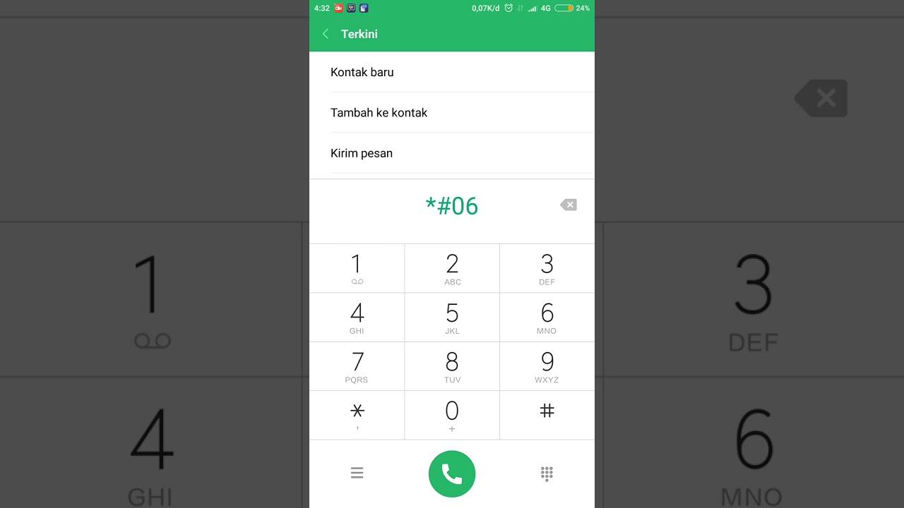 cara cek IMEI HP Xiaomi menggunakan kode angka