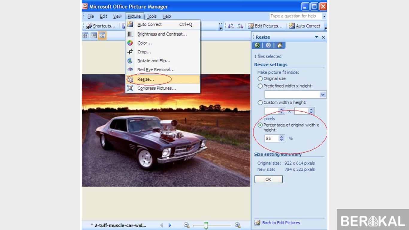 cara mengecilkan foto di HP & Laptop