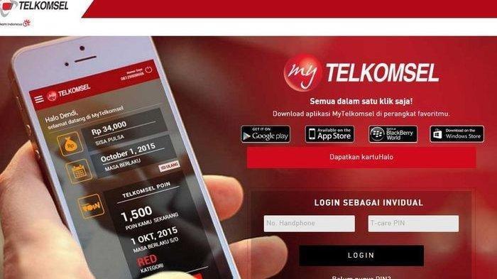 paket internet via aplikasi telkomsel