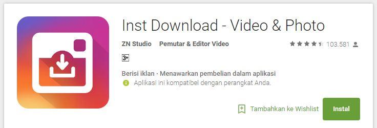 cara menggunakan Inst Download