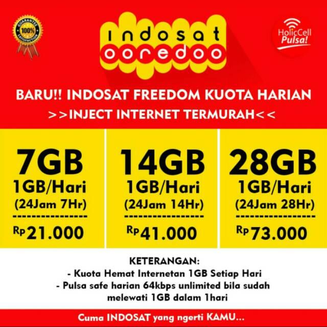 paket internet freedom indosat kuota harian