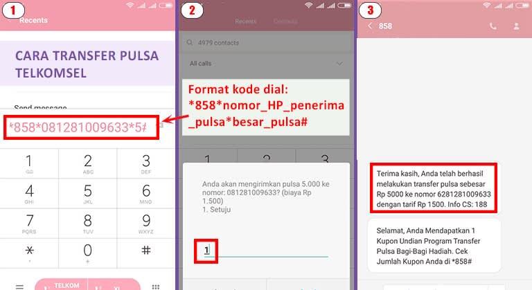 cara transfer pulsa telkomsel melalui kode umb